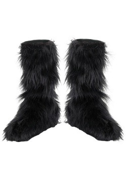 Kids Black Furry Boot Covers