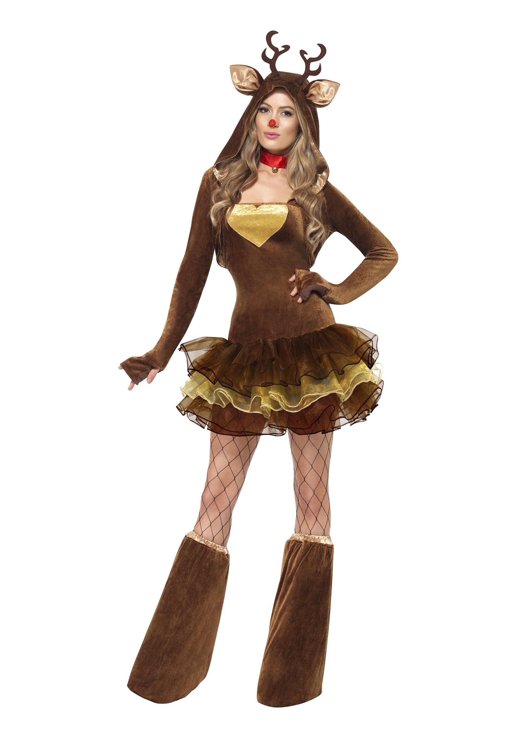 Womens Fever Reindeer Costume Alternate