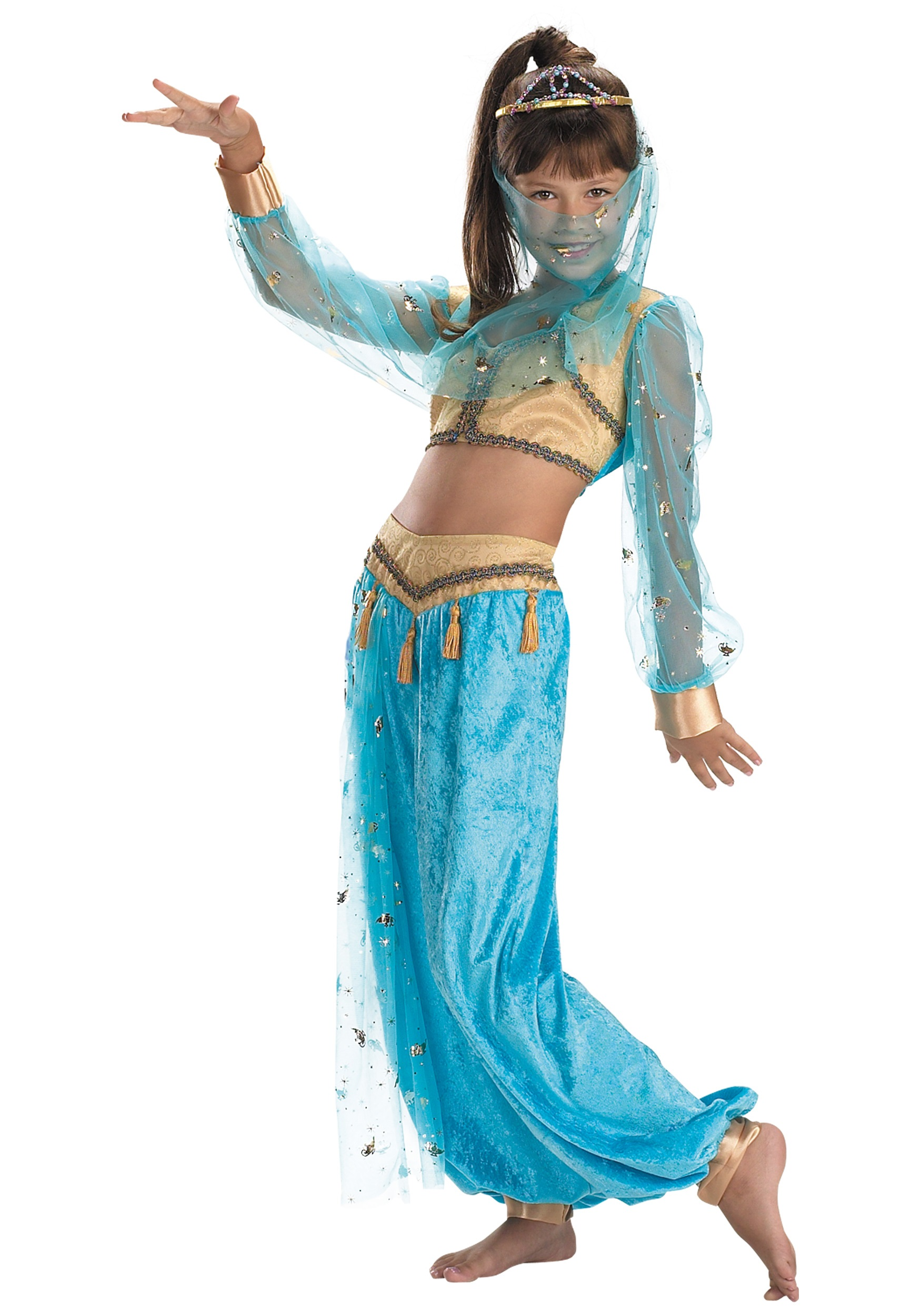 Child Mystical Genie Costume  sc 1 st  Halloween Costumes UK & International Costumes - Adult Genie Sexy Gypsy Halloween Costume