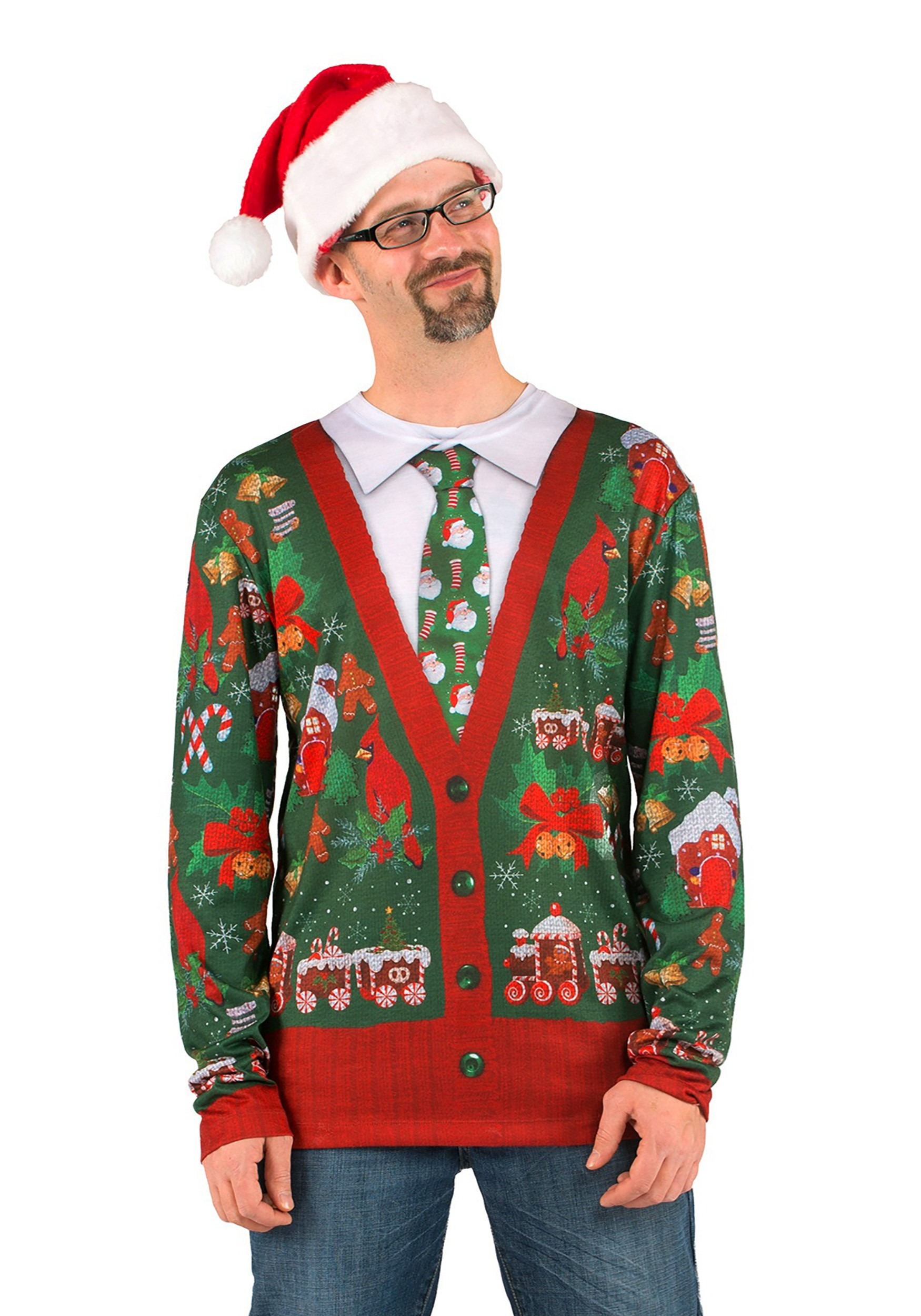 INOpets.com Anything for Pets Parents & Their Pets Men's Ugly Christmas Cardigan