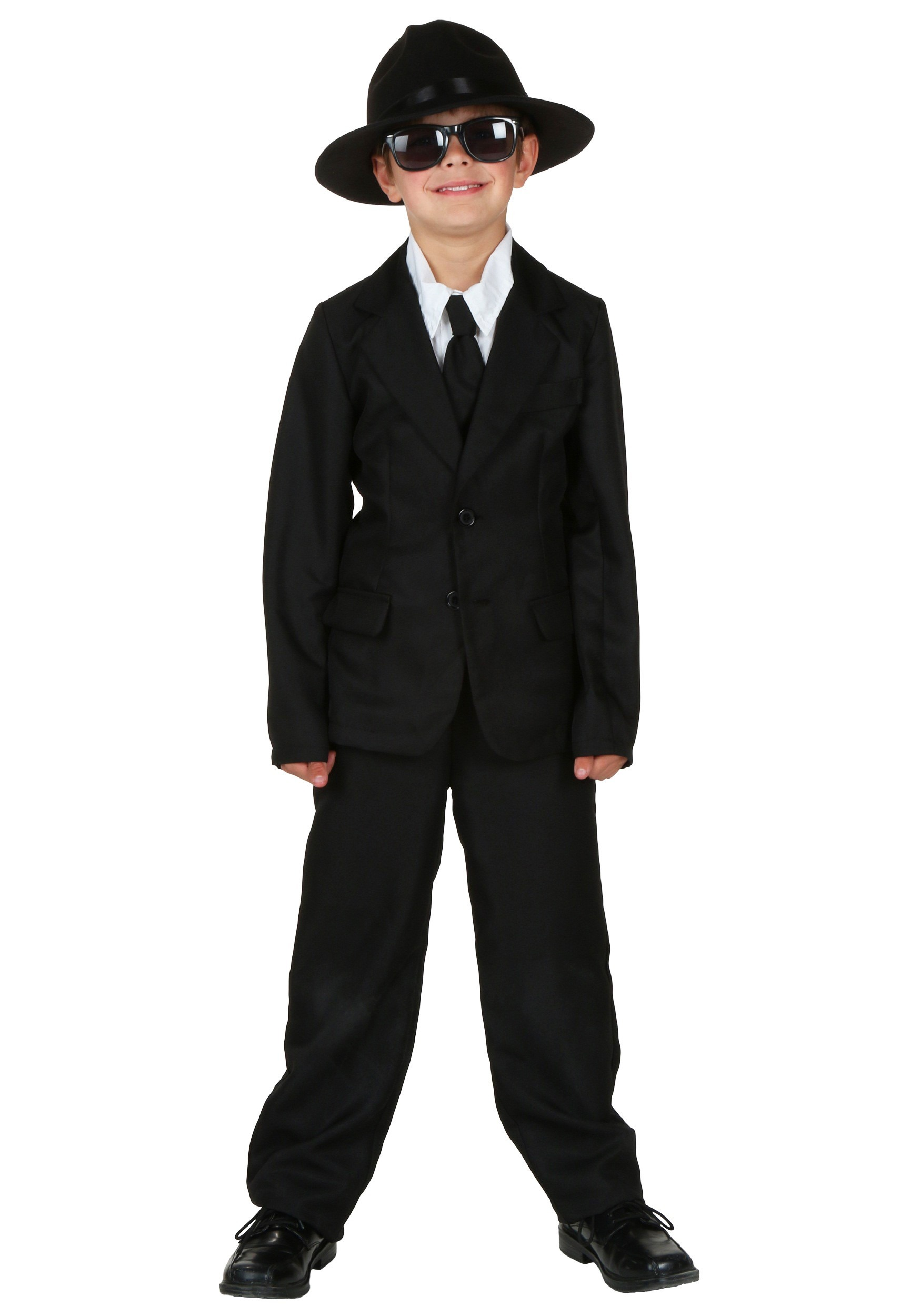 Black Suit For Kids Costume