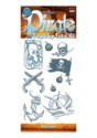 Pirate Buccaneer Temporary Tattoo Kit