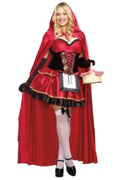 Womens Plus Size Little Red Costume