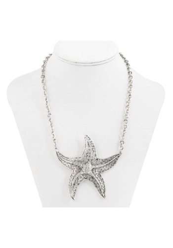 Antique Silver Star Fish Necklace