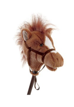 "Easy Ride'Um Brown Horse 33"" Horse on a Stick"