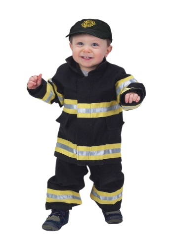 Toddler Black and Yellow Firefighter Costume