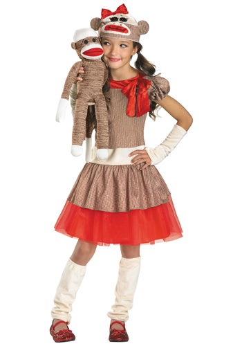 Sock Monkey Girl Costume