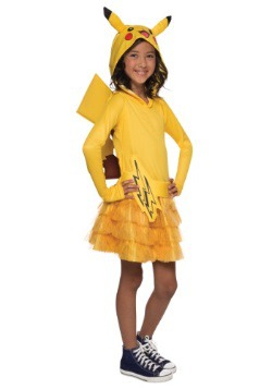 Girls Pikachu Hoodie Dress