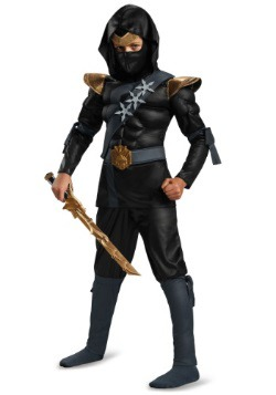Boys Black Ninja Classic Muscle Costume