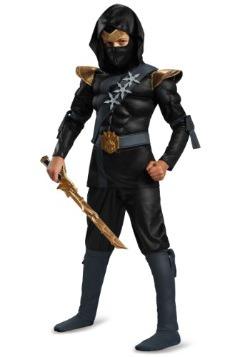 Boys Black Ninja Classic Muscle Costume