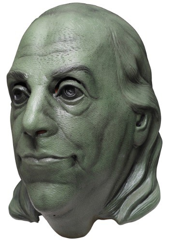 Green Benjamin Franklin Adult Mask