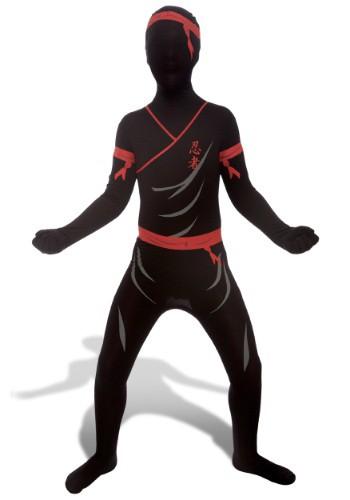 Kids Red and Black Ninja Morphsuit
