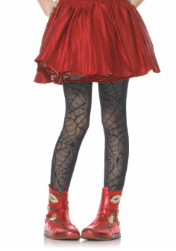 Girls Spiderweb Tights