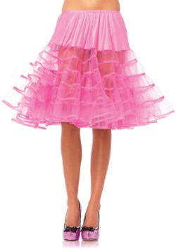 Women's Knee Length Pink Petticoat