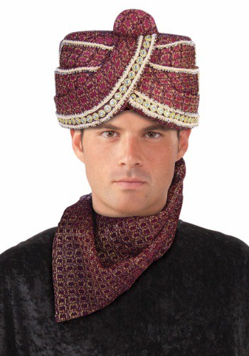 Adult Red Maharaja Turban