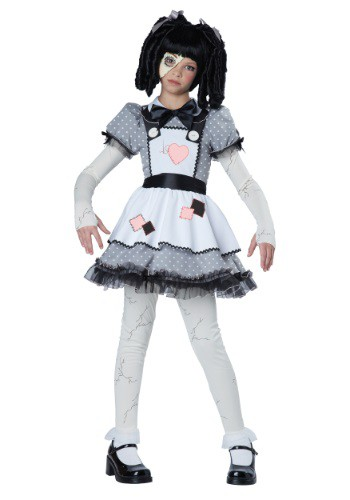 Girls Haunted Doll Costume