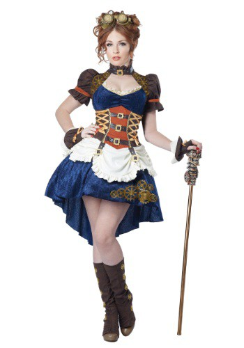 Womens Plus Size Steampunk Fantasy Costume