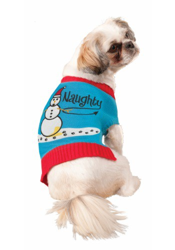 Naughty Snowman Pet Sweater