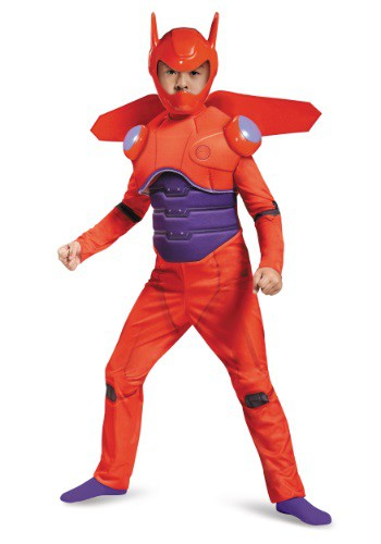 Boys Red Baymax Deluxe Costume