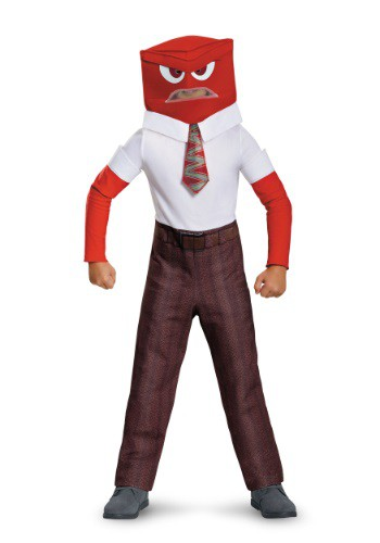 Inside Out Anger Classic Boys Costume