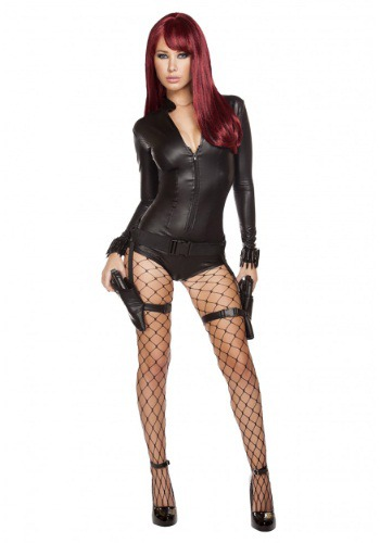 Women's Hot Hitwoman Romper Costume