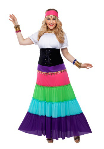 Womens Plus Size Renaissance Gypsy Costume