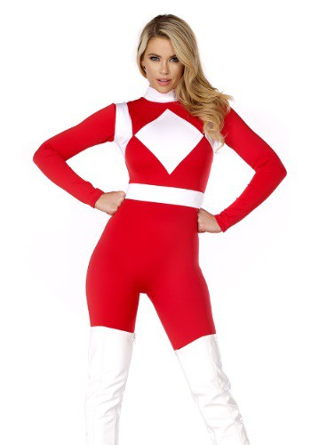Women's Forceful Red Ranger Costume