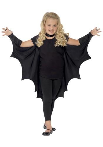 Child Black Bat Wings