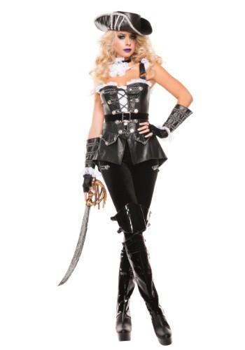 Women's Noir Pirate Costume