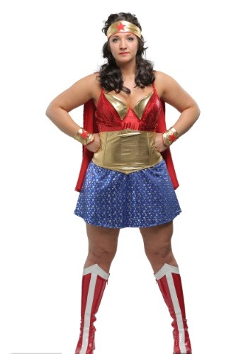 Womens Plus Size Wonder Lady Costume