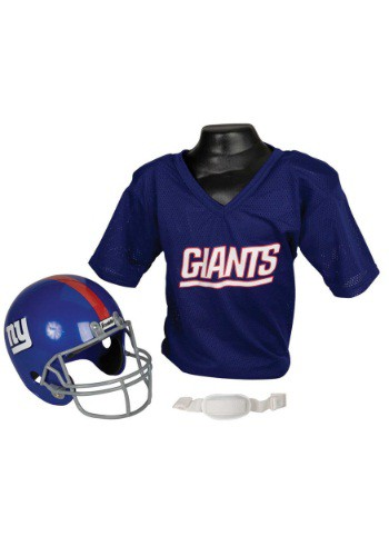 Child NFL New York Giants Helmet and Jersey Set