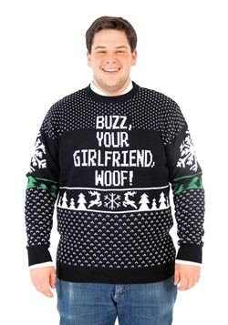 Plus Size Home Alone Buzz Your Girlfriend Woof Sweater