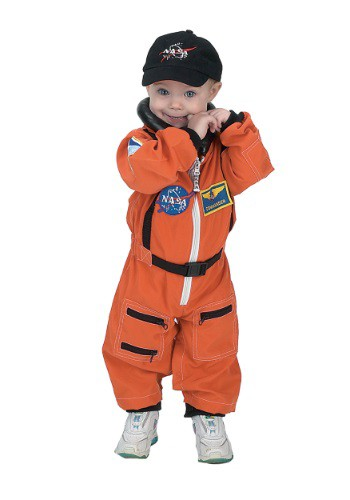 Toddler Orange Astronaut Romper Costume