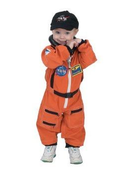 Toddler Orange Astronaut Romper Costume