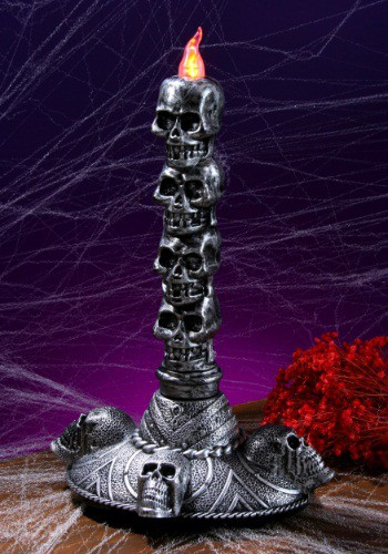 Stack of Skulls Small Candle Tower