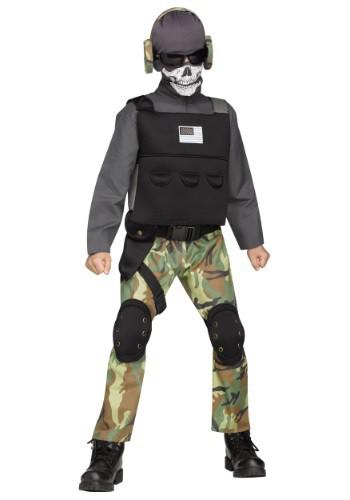 Boys Skull Soldier Costume