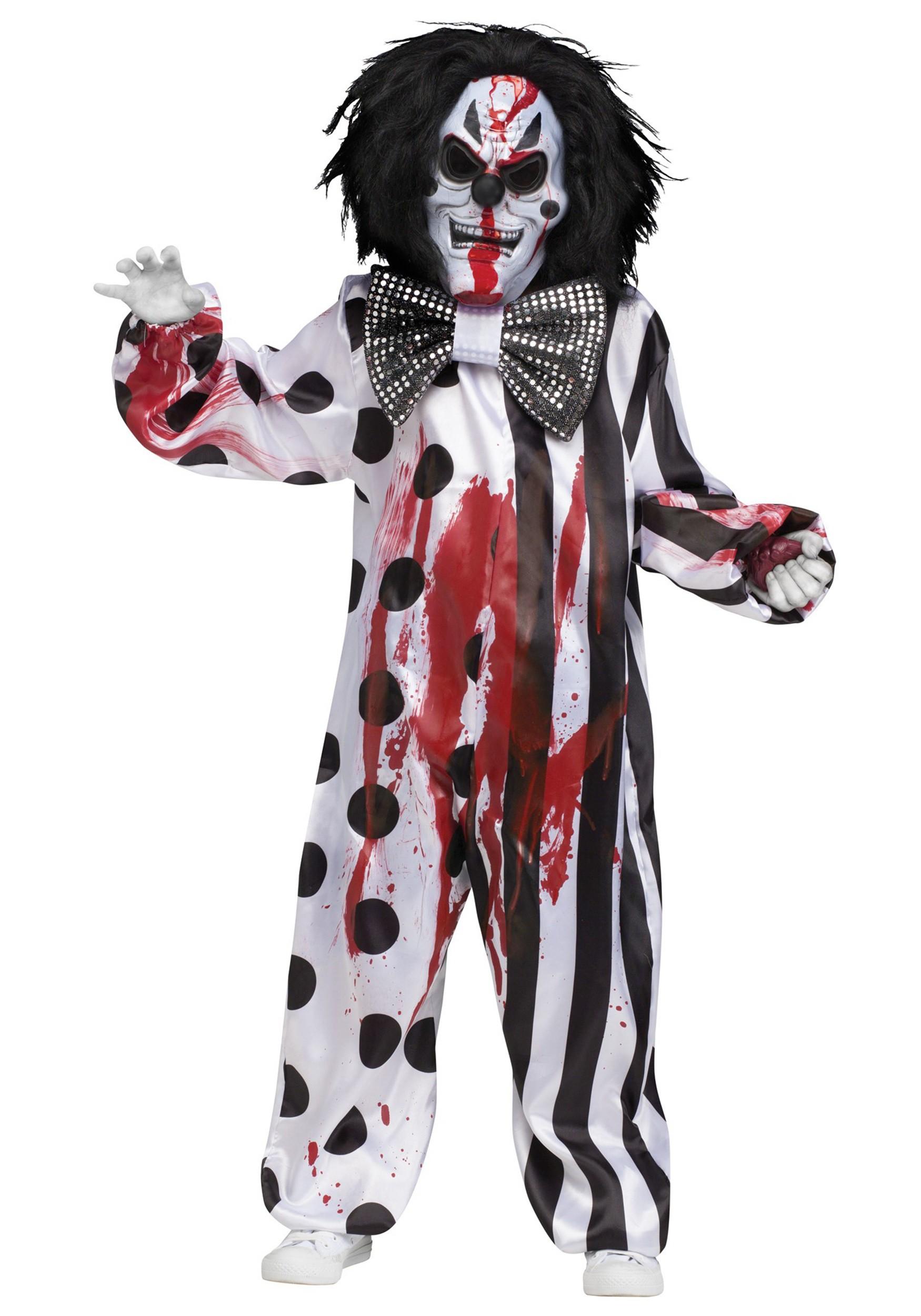 sc 1 st  Halloween Costumes UK & Child Bleeding Killer Clown Costume