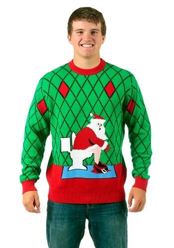 Toilet Santa Ugly Christmas Sweater