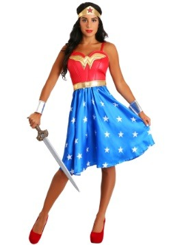 Deluxe Plus Size Long Dress Wonder Woman Costume