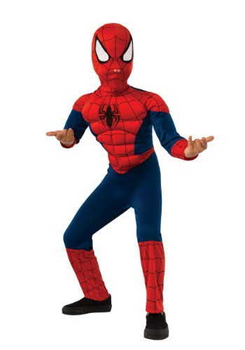 Child Ultimate Spider-Man Muscle Chest Costume