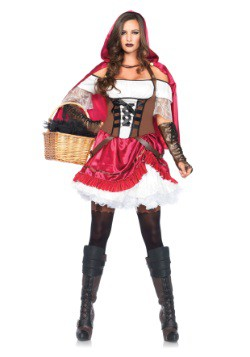 Womens Rebel Red Riding Hood Costume