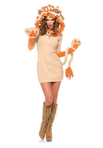 Women's Cozy Lion Costume