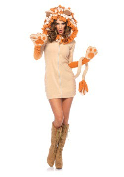 Women's Cozy Lion Costume
