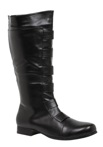 Adult Black Superhero Boots
