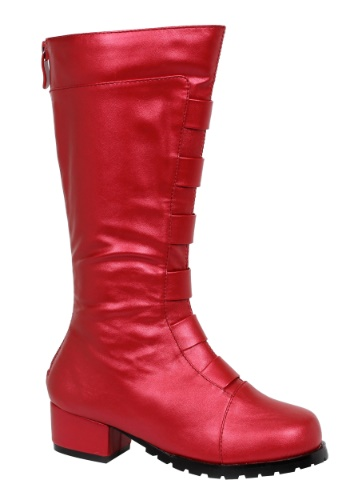 Kid's Red Deluxe Superhero Boots