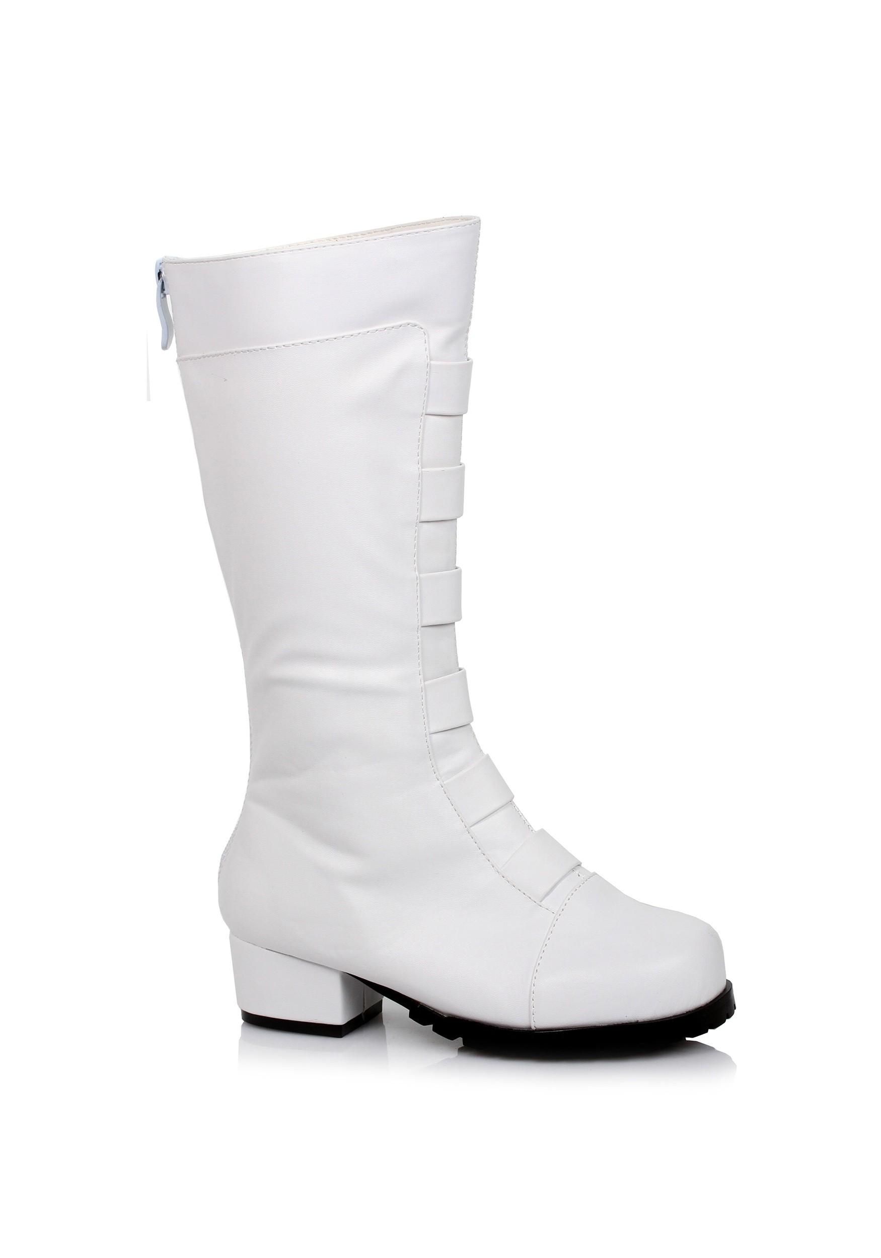 Kid S White Deluxe Superhero Boots
