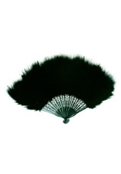 Black Marabou Feather Fan