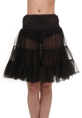 Plus Size Black Knee Length Crinoline