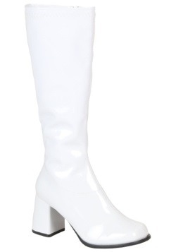 Girls White Gogo Boots