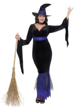 Women's Plus Size Glamorous Witch Costume